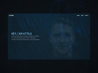 Portfolio site web design web ux motion website ui interaction typography design interactive animation