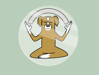 {Insert Meditation Here} meditation dog illustration