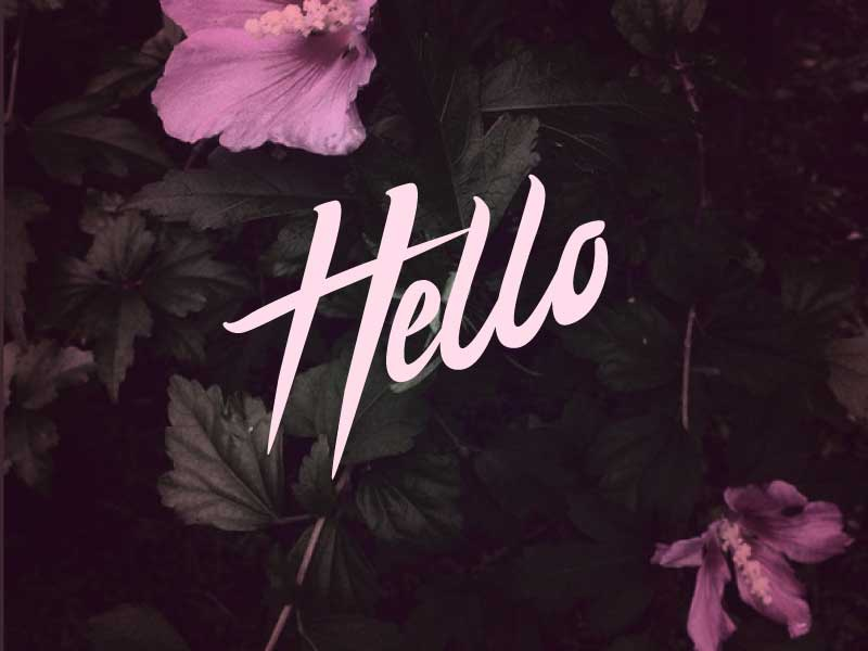 Hello Dribbblers! debut hand lettering