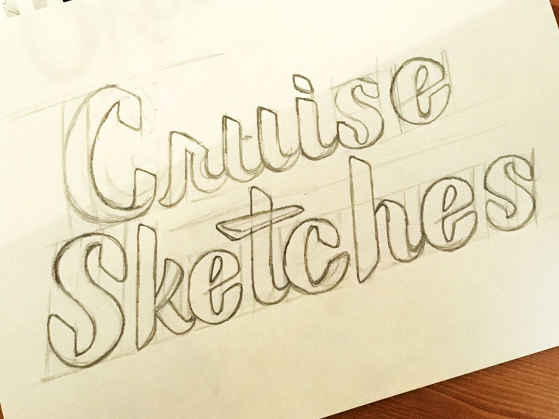 Cruise Sketches illustration sketch wip lettering