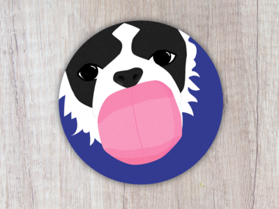 Dog Cleanup stickermule illustration dog