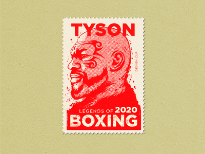 Mike Tyson Post Stamp 2020 sport stamp sport illustration illustration boxing legends iron mike letter box boxing glove tyson mike tyson post stamp stamp boxing