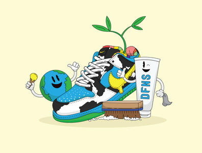DFNS x Nike SB Chunky Dunky Illustration sneaker illustration sneaker design funky nike sneakers sneaker head sneakerhead shoes dunky chunky earthday sustainability dfns nike chunky dunky nike illustration nike sb nike dunk nike air chunky dunky nike