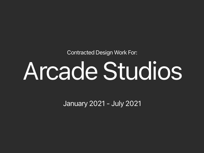 Contracted Design Work For: Arcade Studios branding graphic  design design adobe xd