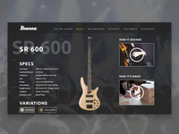 Ibanez Detail Page