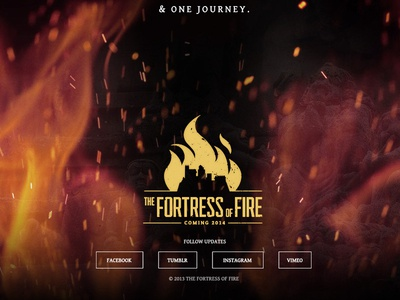 The Fortress of Fire Landing Page