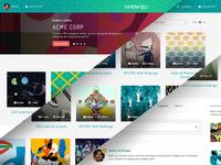 Project X web app - initial screens