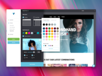 Color picker - Website Builder UI