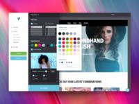 Color picker - Website Builder UI website design ui ux user interface desktop vistaprint web gradient website builder color picker photography