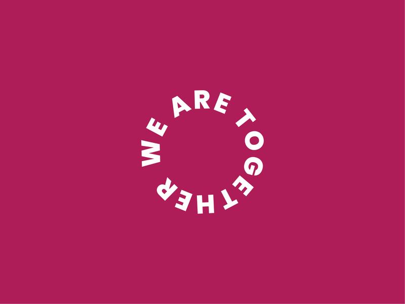 WeAreTogether social logomark typography logodesigner logotype circular circle logodesign logo