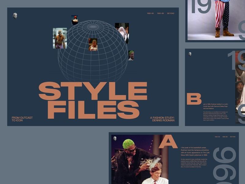Style Files: Dennis Rodman the last dance michael jordan chicago bulls dennis rodman basketball nba fashion image gallery images gallery webdesign web concept article editorial type sans serif typography