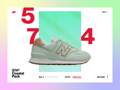 New Balance: Coastal Pack 🌊 ui web animated concept explore shop transition ecommerce lifestyle sneakers trainers shoes new balance