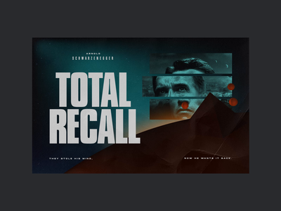 TOTAL RECALL arnold cult scifi looping loop animation motion cinema4d c4d typography cinematic cinema poster design poster movie film