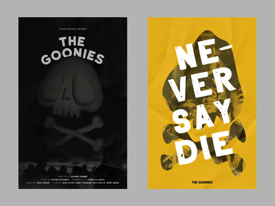 THE GOONIES typography poster bones skull 3d animation c4d cinema4d loop motion film movie poster steven spielberg the goonies
