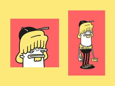 JIMBO fast food employee illustrator illustration vector art vector design vector character design character