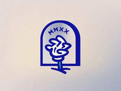 MMXX rough drawn handdrawn mark logo christmas corona zombie hand character vector gradient noise illustration illustrator trend 2020