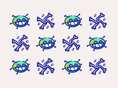 TWENTYTWENTY mmxx handdrawn gradient noise rough logo mark corona virus pattern cartoon design character illustrator illustration trend 2020