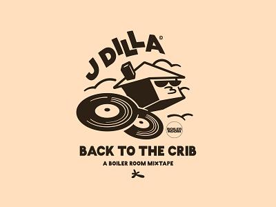 DILLA typography lowbrow character drawn clouds apparel illustrator illustration music records mixtape boiler room hiphop crib jay dee jdilla