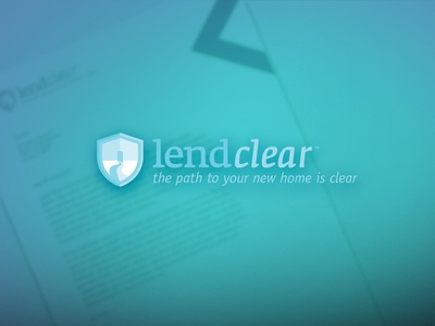 Lend Clear mortgage home shield path safety logo clear