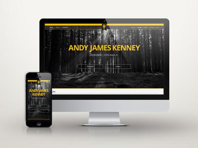 Portfolio Re-Design portfolio home page andy james design dark responsive showcase chicago