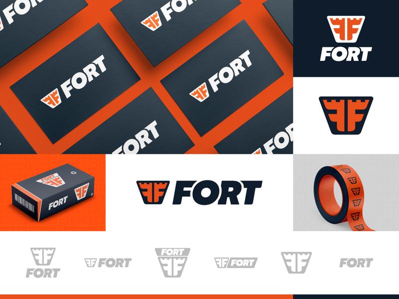 Fort | Brand Identity responsive logo responsive orange logo guideline identity graphic designer branding brand identity design design visual identity brand design
