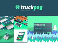 TruckPag   Brand Identity creditcard payment design green logo green logo identity graphic designer brand design visual identity branding