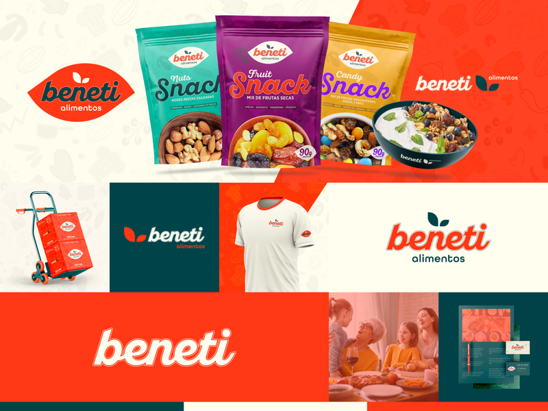 Beneti Alimentos | Brand Identity package identity supermarket food brand food logo brand design orange logotype graphic designer design visual identity package design packaging branding