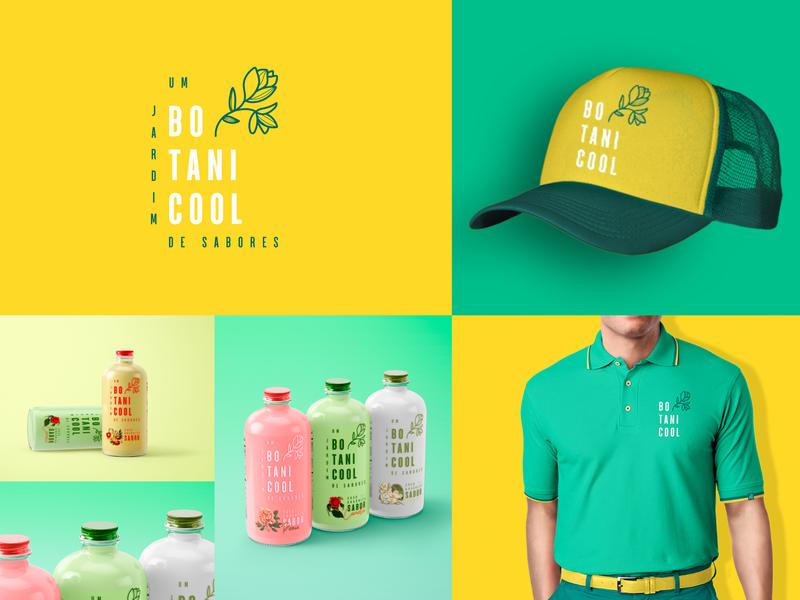 Botanicool Organic Juice | Brand Identity juice organic food packaging product design uniform design brand design visual identity package package design design branding