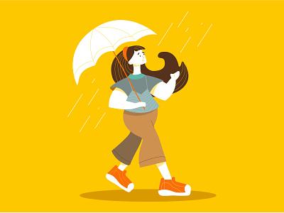 Bye-bye autumn! adobe illustrator illustrator women in illustration girl character autumn illustrate animate flatdesign vector illustration vector illustration