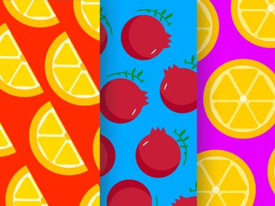 Fruits color palette colorful vector icons illustration sketch sketchbook illustrator pomegranate lemon sticker design vector art wallpaper design wallpaper icon design fruit icons fruit logo fruit illustration fruit vector illustration vector