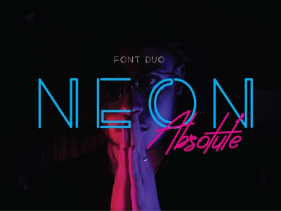 Neon Absolute - font duo graphicdesign 80s style 80s typography branding font freefont fontduo design