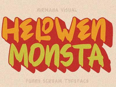 Hellowen Monsta Font design freefont typography branding graphicdesign font awesome font design fonts pumpkins halloween logotype logo font
