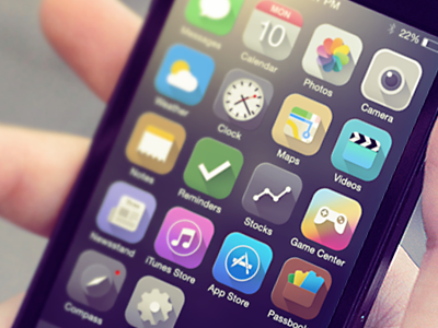 iOS 7 icons redesign icon ios 7 iphone redesign illustrations
