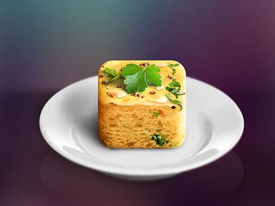 Dhokla icon icon ios iphone app dhokla indian food identity design illustration logo ipad