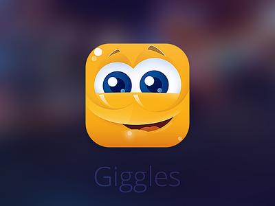 Giggles app ipad icon design cute giggles ios7 iphone