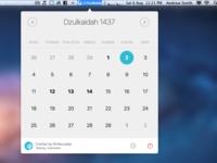 Elyoum - Islamic calendar on your mac's menubar