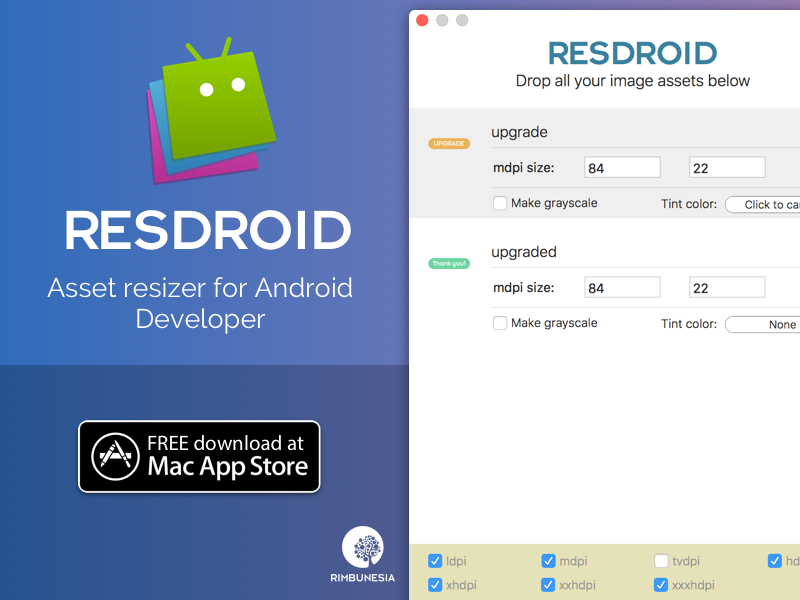 Resdroid - Asset resizer for Android Developer by Didats Triadi on