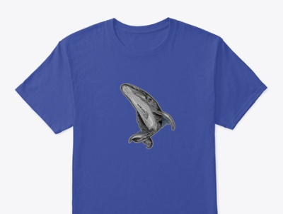 The great whale shirt graphic aminshahrokhi drawing design artist painting arts shahrokhi tshirt shirtdesign whale