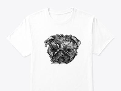 Cute Dog shirts men shirts clothes fashion bulldog design bulldog poppy design poppies poppy dog tshirt dog painting artwork arts art drawing paining line art dog design dogs dog
