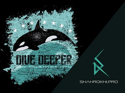 Orca design aminshahrokhi shirts amin shahrokhi shahrokhi gimp motivational grunge tshirts tea shirt art graphic seawolf killer whale killerwhale orca