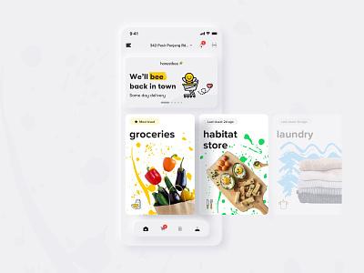 honestbee redesign concept image flat neumorphism bee redesign ecommerce design mobile app ux ui