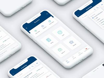Product List Mobile App UI logistic clean interface smartphone sketch design mobile app ux ui