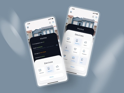 Home Screen for Smart Home Control Application control stacks home screen smarthome interface design mobile app ux ui