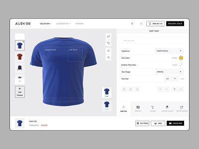 Custom Clothes Editor editor website web app custom t-shirt minimal clean interface design ux ui