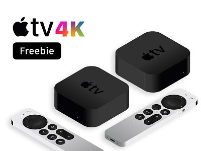 Free AppleTV 2021 isometric tv apple illustration isolated freebie