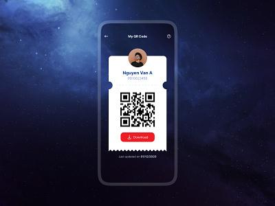 My QR Code qrcode interface mobile design app ux ui