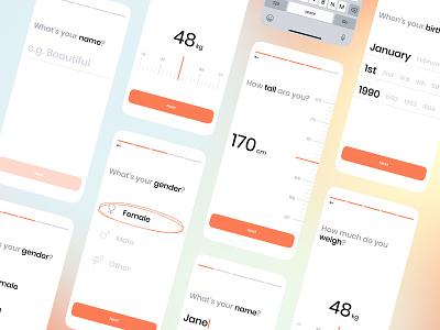 Let's get started! register get started information fitness modern clean interface design app ux ui