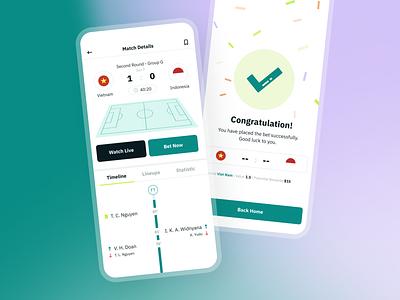 Betting Mobile UI success football sport betting interface design app ux ui
