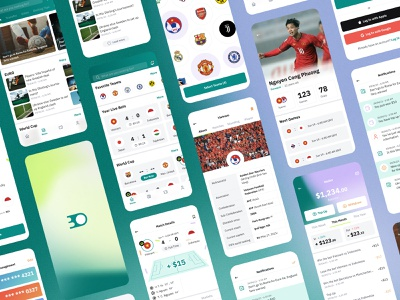 Bet On - Football Betting Mobile UI Kit cards management sport football betting gradient kit interface mobile design app ux ui