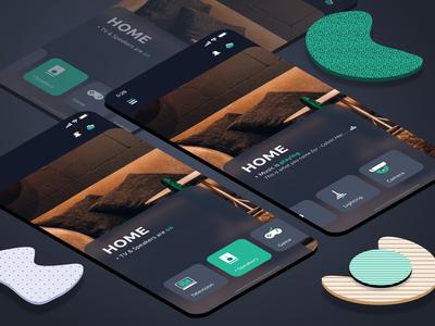 Smart Home - Homescreen UI